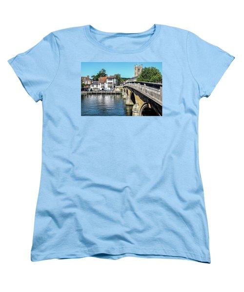 Henley And The Angel On The Bridge Women's T-Shirt (Standard Cut) by Ken Brannen