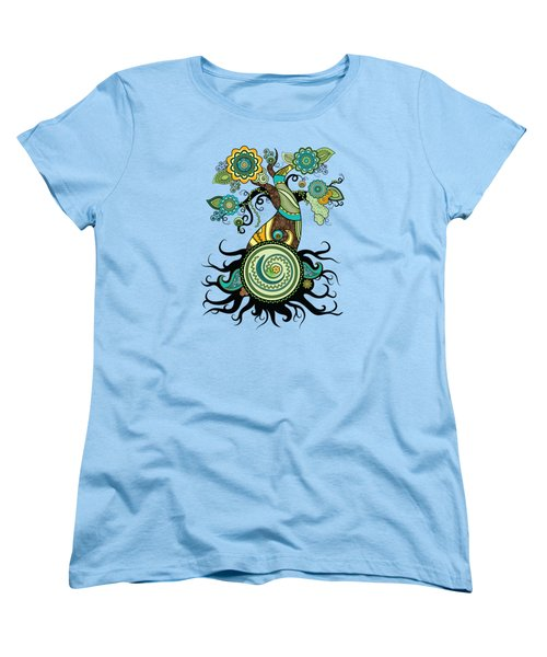 Henna Tree Of Life Women's T-Shirt (Standard Cut) by Serena King