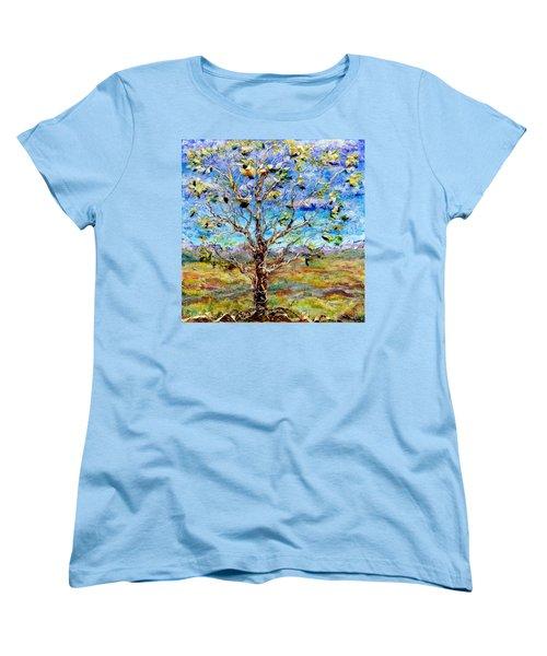 Herald Women's T-Shirt (Standard Cut) by Regina Valluzzi
