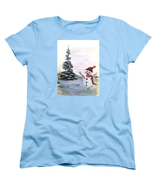 Women's T-Shirt (Standard Cut) featuring the painting Here I Am by Dorothy Maier