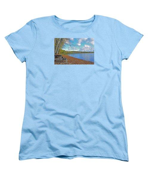 Fall Picnic In Maine Women's T-Shirt (Standard Cut) by Glenn Gordon