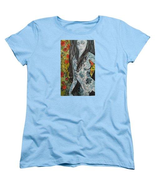 Hesitation Women's T-Shirt (Standard Cut) by Claudia Cole Meek