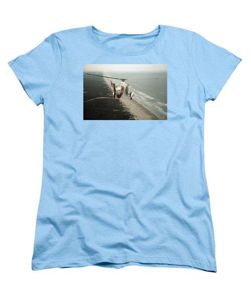 Hh-52a Beach Patrol Women's T-Shirt (Standard Cut) by Steven Sparks