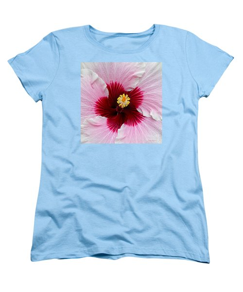 Hibiscus With Cherry-red Center Women's T-Shirt (Standard Cut) by Susan Wiedmann