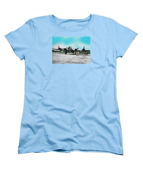 Hickam Fort Women's T-Shirt (Standard Cut) by Walter Chamberlain