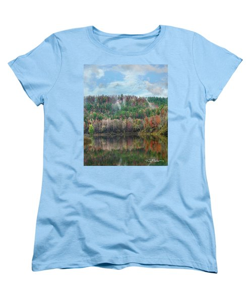 Hickory Forest Women's T-Shirt (Standard Cut) by Tim Fitzharris