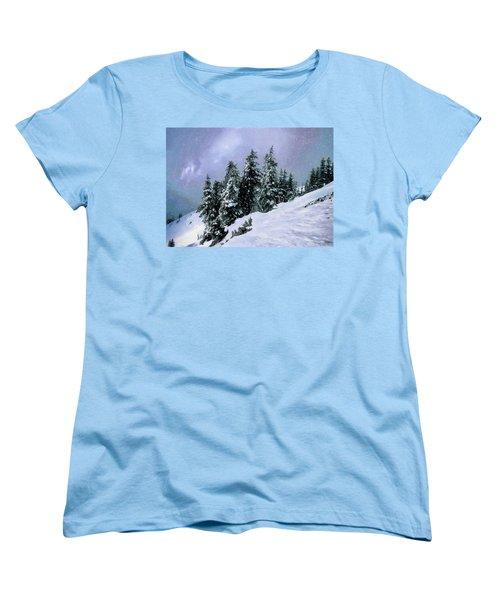 Women's T-Shirt (Standard Cut) featuring the photograph Hidden Peak by Jim Hill