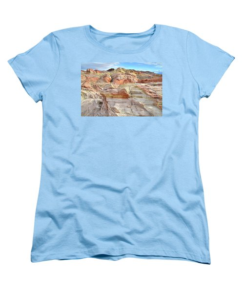 High Above Valley Of Fire Women's T-Shirt (Standard Cut) by Ray Mathis