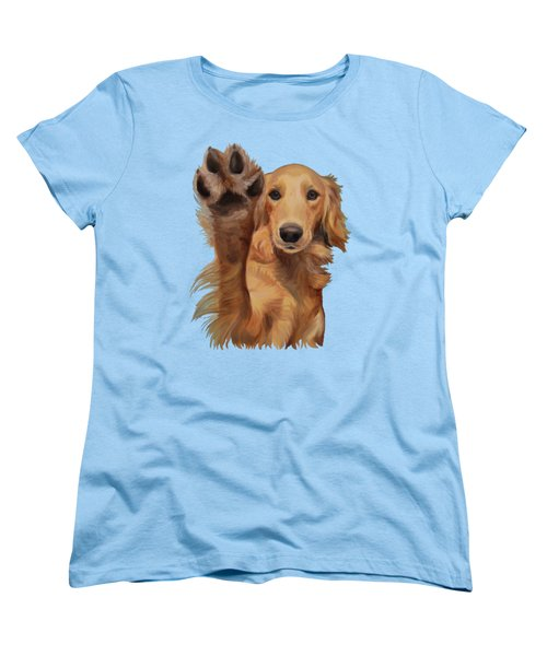 Women's T-Shirt (Standard Cut) featuring the painting High Five by Jindra Noewi
