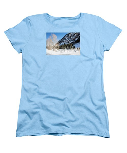 High In The Rockies Before Independence Pass Women's T-Shirt (Standard Cut) by Carol M Highsmith