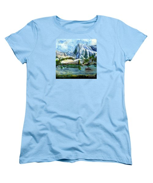 High Lake First Snow Women's T-Shirt (Standard Cut) by Randy Sprout