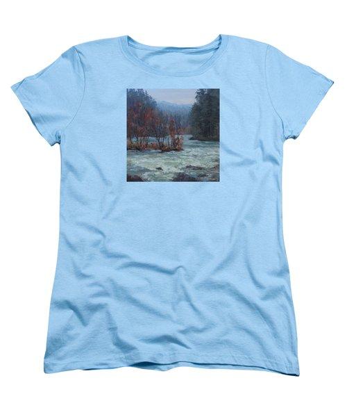 Women's T-Shirt (Standard Cut) featuring the painting High Water by Karen Ilari