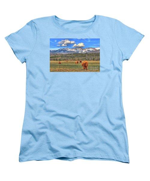 Highland Colorado Women's T-Shirt (Standard Cut) by Scott Mahon