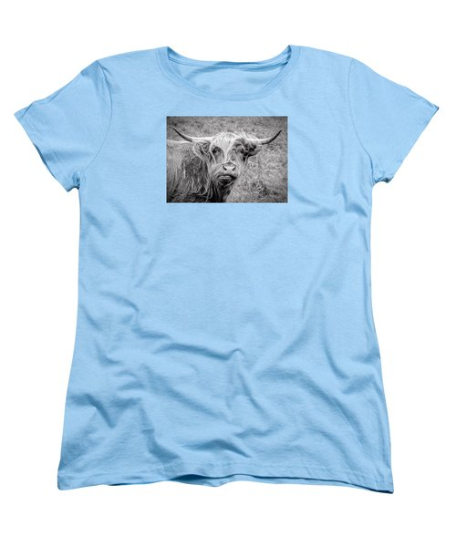 Highland Cow Women's T-Shirt (Standard Cut) by Jeremy Lavender Photography