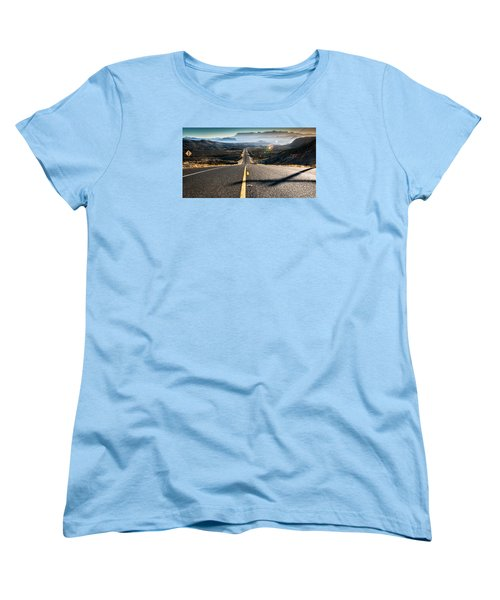 Highway 170 To Big Bend Women's T-Shirt (Standard Cut) by Allen Biedrzycki