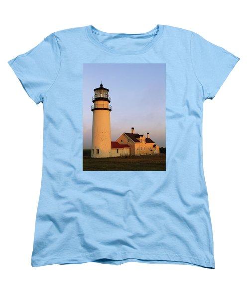 Women's T-Shirt (Standard Cut) featuring the photograph Higland Lighthouse Cape Cod by Roupen  Baker