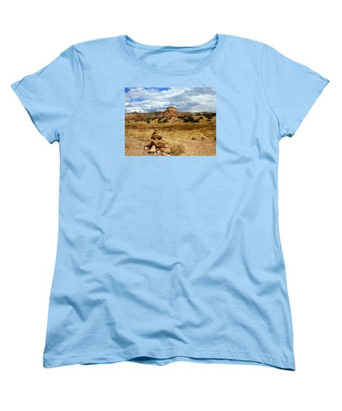 Women's T-Shirt (Standard Cut) featuring the photograph Hiking Ghost Ranch New Mexico by Kurt Van Wagner