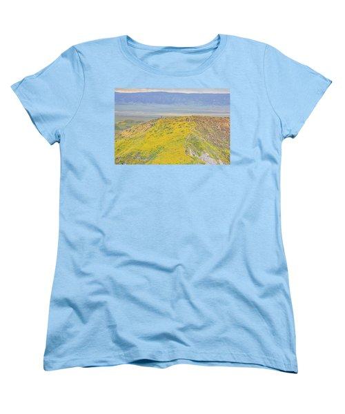 Hiking The Temblor Women's T-Shirt (Standard Cut) by Marc Crumpler