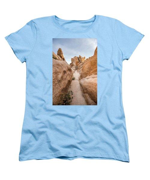 Hiking Trail In Joshua Tree National Park Women's T-Shirt (Standard Cut) by Joe Belanger