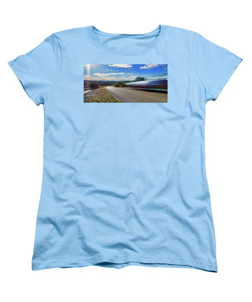 Hill Country Back Road Long Exposure Women's T-Shirt (Standard Cut) by Micah Goff