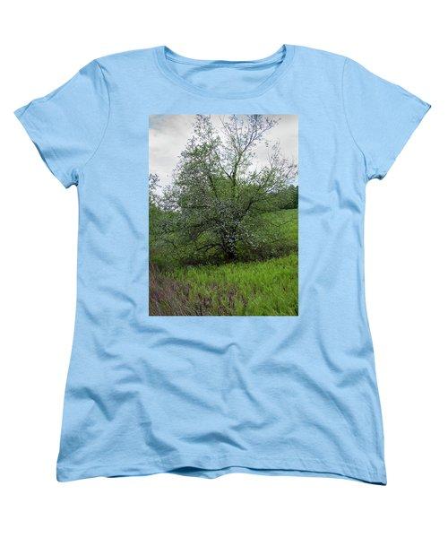 Women's T-Shirt (Standard Cut) featuring the photograph Hillside Lady by Michael Friedman