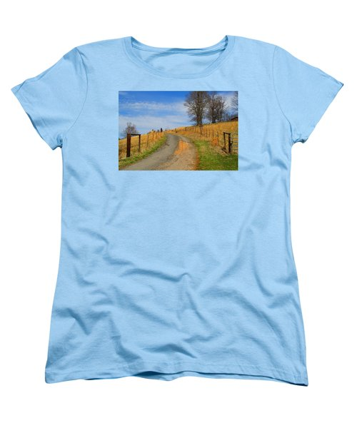 Hilltop Driveway Women's T-Shirt (Standard Cut) by Kathryn Meyer