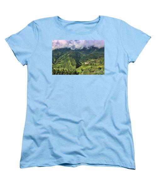 Hilltop Sapa Women's T-Shirt (Standard Cut) by Chuck Kuhn