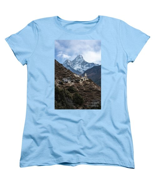 Women's T-Shirt (Standard Cut) featuring the photograph Himalayan Yak Train by Mike Reid