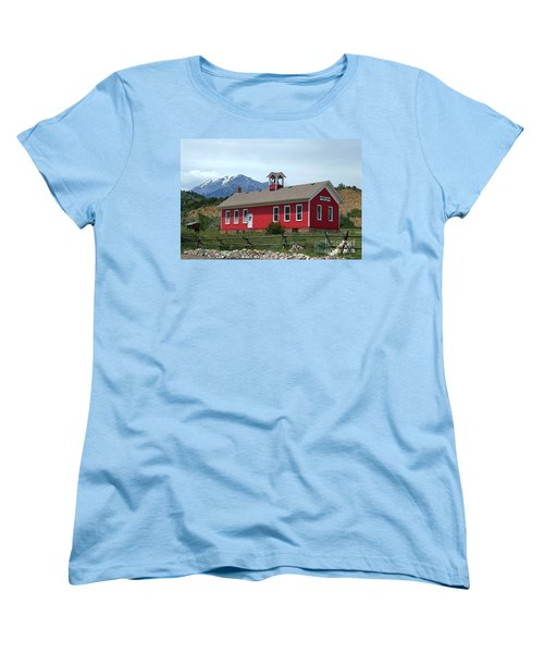 Historic Maysville School In Colorado Women's T-Shirt (Standard Cut) by Catherine Sherman