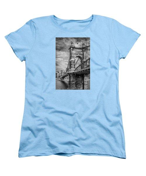 Historic Roebling Bridge Women's T-Shirt (Standard Cut) by Diana Boyd