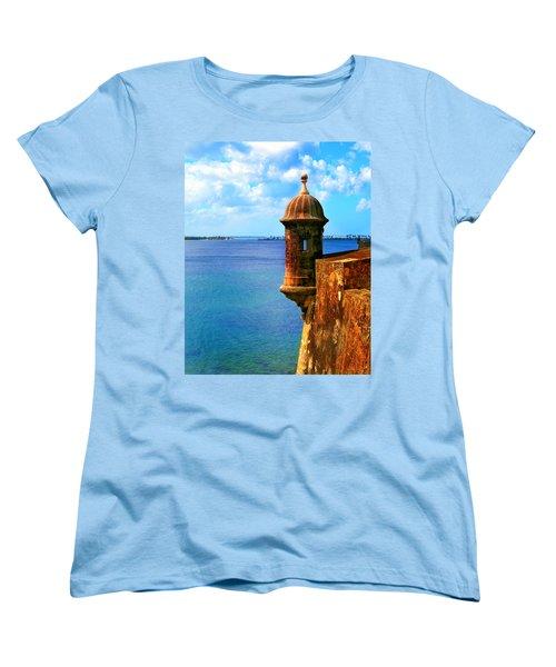 Historic San Juan Fort Women's T-Shirt (Standard Cut) by Perry Webster