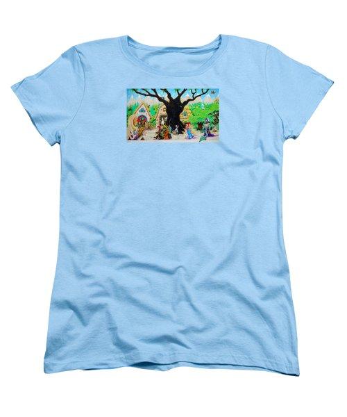 Women's T-Shirt (Standard Cut) featuring the painting Hobbit Land by Matt Konar