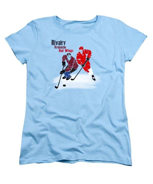 Hockey Rivalry Avalanche Red Wings Shirt Women's T-Shirt (Standard Cut) by Joe Hamilton