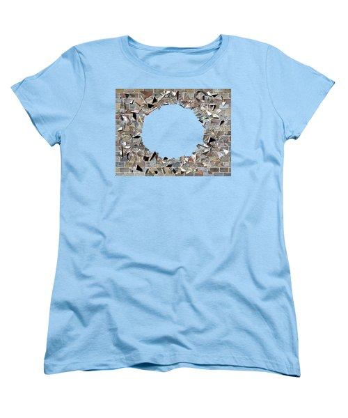 Hole In The Wall - Exploding Wal Women's T-Shirt (Standard Cut) by Michal Boubin