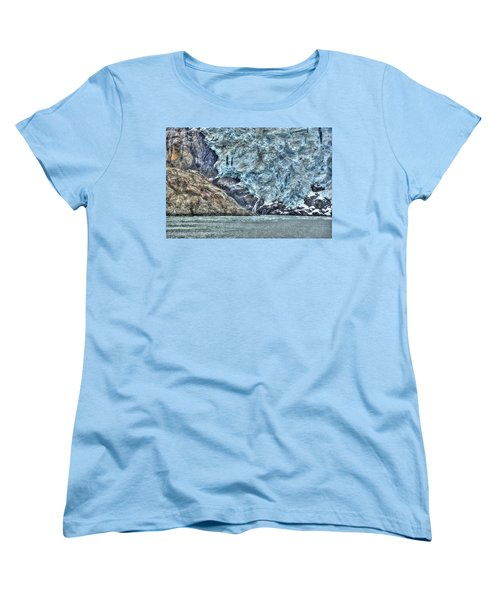 Holgate Glacier Hdr Women's T-Shirt (Standard Cut) by Richard J Cassato