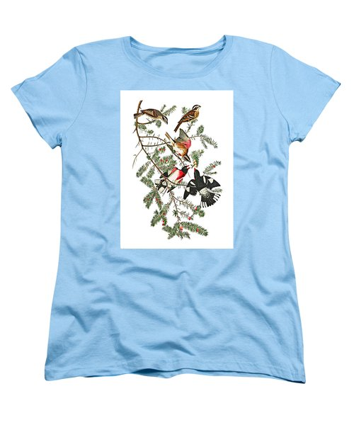 Women's T-Shirt (Standard Cut) featuring the photograph Holiday Birds by Munir Alawi