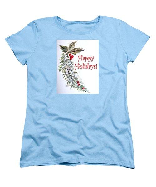 Holidays Card - 3 Women's T-Shirt (Standard Cut) by Dorothy Maier