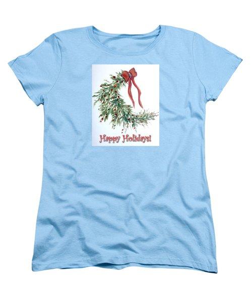 Holidays Card - 4 Women's T-Shirt (Standard Cut) by Dorothy Maier
