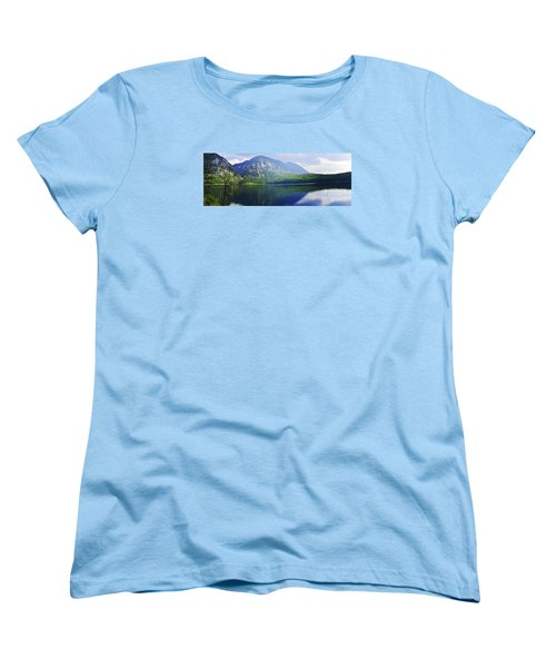 Women's T-Shirt (Standard Cut) featuring the photograph Holland Lake Panoramic View by Janie Johnson