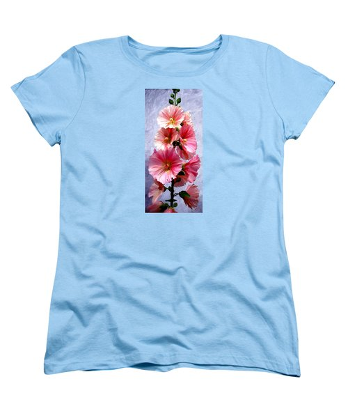 Women's T-Shirt (Standard Cut) featuring the painting Hollyhocks by James Shepherd