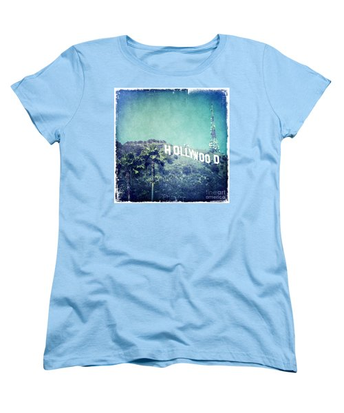 Hollywood Sign Women's T-Shirt (Standard Cut) by Nina Prommer