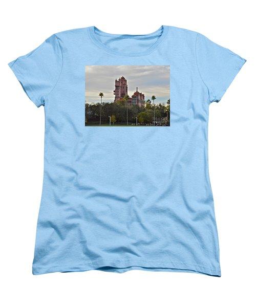 Hollywood Studios Tower Of Terror Women's T-Shirt (Standard Cut) by Carol  Bradley