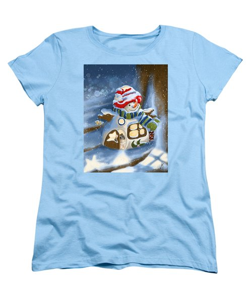 Women's T-Shirt (Standard Cut) featuring the painting Home Sweet Home by Veronica Minozzi