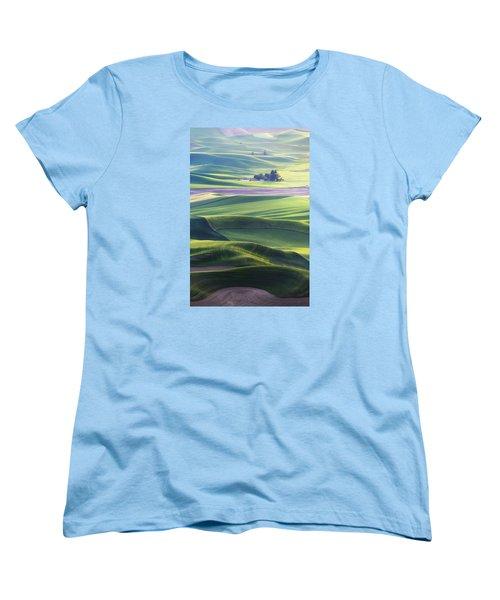 Homestead In The Hills Women's T-Shirt (Standard Cut) by Ryan Manuel