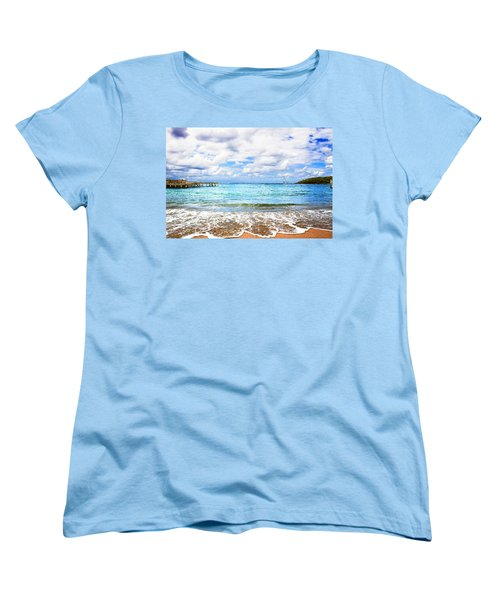 Honduras Beach Women's T-Shirt (Standard Cut) by Marlo Horne