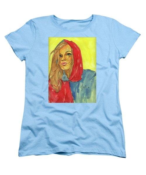 Women's T-Shirt (Standard Cut) featuring the painting Hoody by P J Lewis