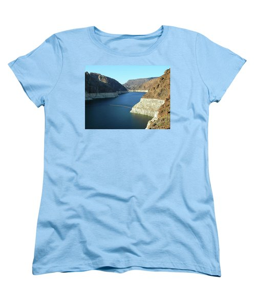 Women's T-Shirt (Standard Cut) featuring the photograph Hoover Dam In May by Emmy Marie Vickers