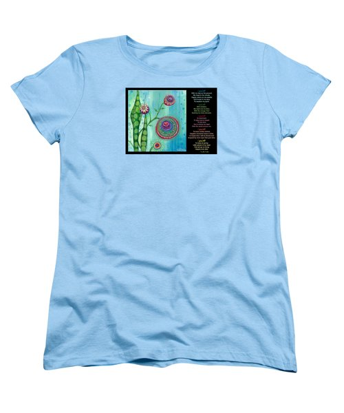 Women's T-Shirt (Standard Cut) featuring the painting Hope With Poem by Tanielle Childers