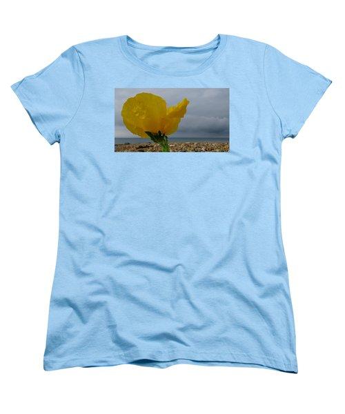 Horned Poppy By The Sea Women's T-Shirt (Standard Cut) by John Topman