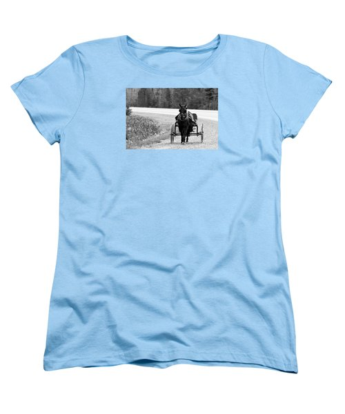 Horse And Buggy Women's T-Shirt (Standard Cut) by Marjorie Imbeau